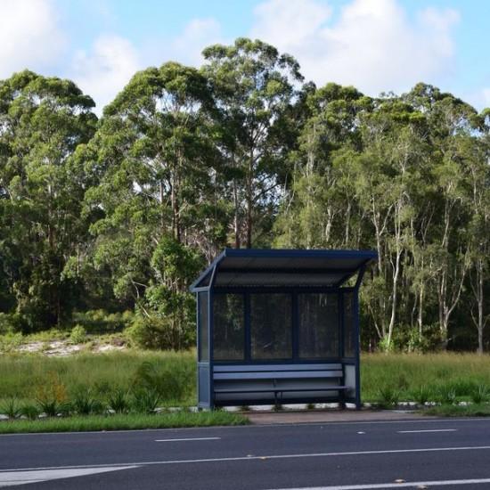 Nambucca Heads bus at at Pelican Caravan Park