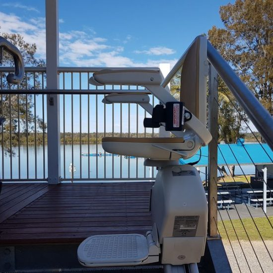 deluxe riverfront cabin stairlift
